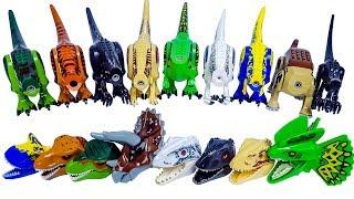 Download Learn Dinosaurs Names with Jurassic World Lego Dinosaur's Head block Toy - 쥬라기월드 공룡블럭 Video