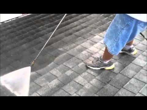 Safe shingle cleaning