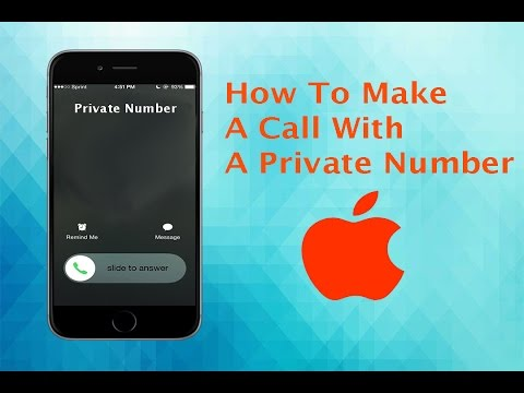 How To Call Someone Using A Private Number!
