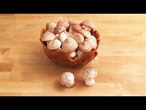 Meringue Mushrooms and Almond Basket - Cheeky Crumbs