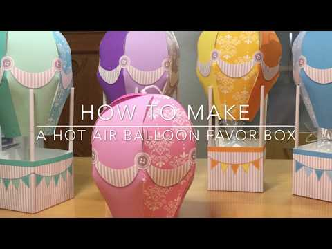 How to make a DIY paper hot air balloon party favor box