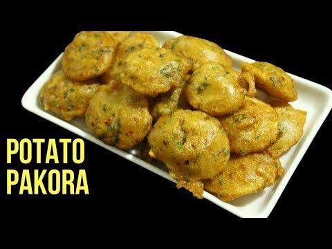 Aloo Ki Pakora Recipe In Bangla By Nian's Cooking Diary | Potato Fritters | Potato Pakora