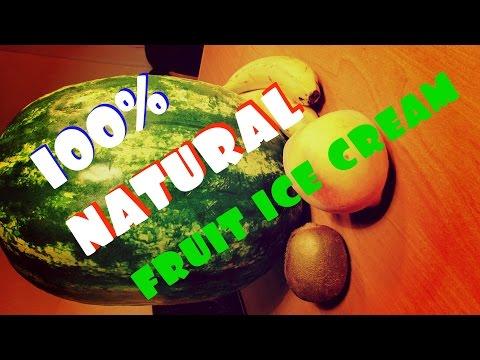 MAKE 100% NATURAL FRUIT ICE CREAM AT HOME (DIY)