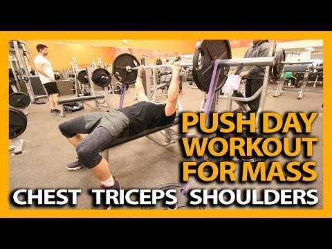 PUSH DAY WORKOUT FOR MASS! (Chest Triceps and Shoulders)