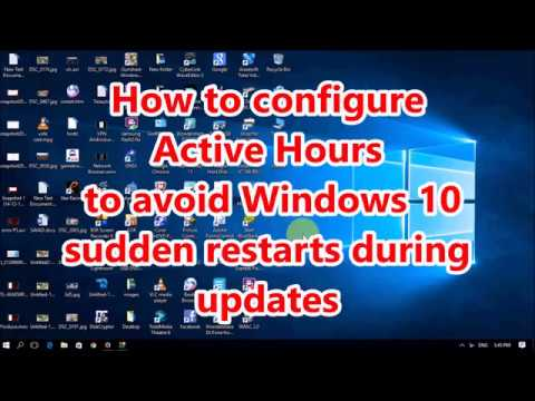 How to configure Active Hours to avoid Windows 10 sudden restarts during updates