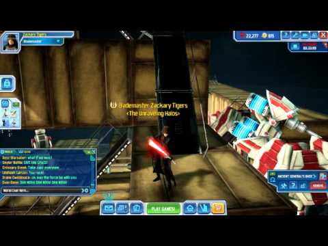 Clone Wars Adventures: Me And A Double Bladed Lightsaber But With One Blade!