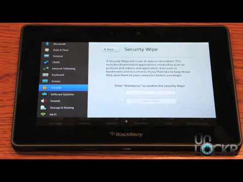 How To: Factory Reset the Blackberry Playbook