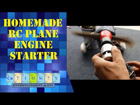 Homemade RC plane engine starter