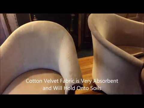 Cotton Velvet Upholstery Cleaning