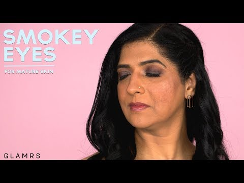 Quick & Easy Glamorous Smokey Eye For Wrinkled Skin | Makeup For Mature Skin