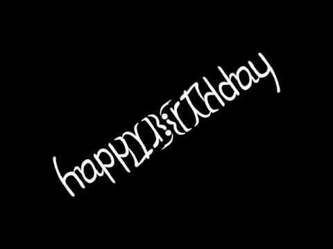 Happy Birthday Ambigram