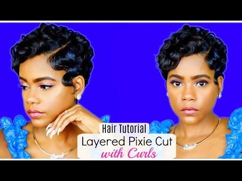 How I Style My Layered Pixie Cut w/Curls at Home | Relaxed Short Hair | Hair Tutorial | Leann DuBois