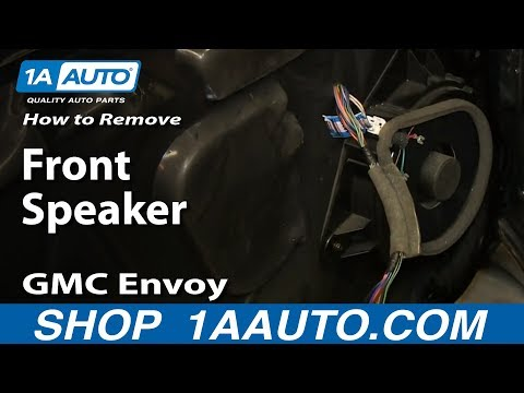 How To Remove Install Replace Front Speaker GMC Envoy