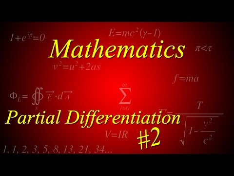 Partial Differentiation 2: Stationary Points