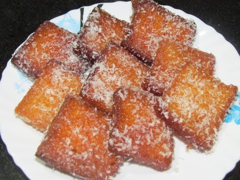 Coconut Bread Toast | Shahi Toast | Instant Dessert