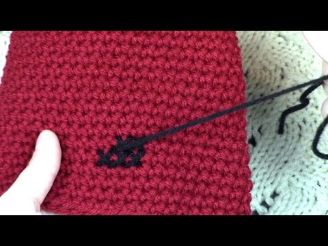 How to Cross-Stitch Into Crochet Fabric Tutorial