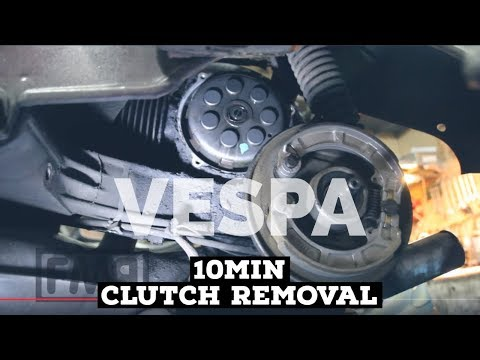 10min vespa CLUTCH REMOVAL HOW2 / FMPguides / rally 200:1975