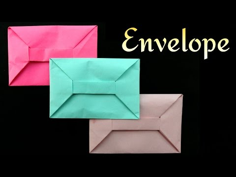 Envelope from A4 sheet (No Glue or Tape) - DIY Origami Tutorial by Paper Folds ❤️