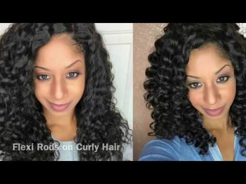 Flexi Rods On Curly Weave