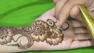 Mehndi For Dp : New simple and beautiful arabic mehndi design for hands ☆ step by
