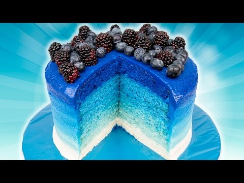 6 Layer Ombre Cake from Cookies Cupcakes and Cardio