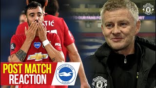 Solskjaer, Fernandes & Lindelof react to 3-0 win over Brighton | Manchester United | Premier League