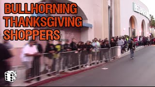 Bullhorning Thanksgiving Shoppers in Line at Best Buy - BLACK FRIDAY 2015