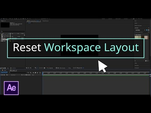 How to Reset Workspace to Default Layout│After Effects CC