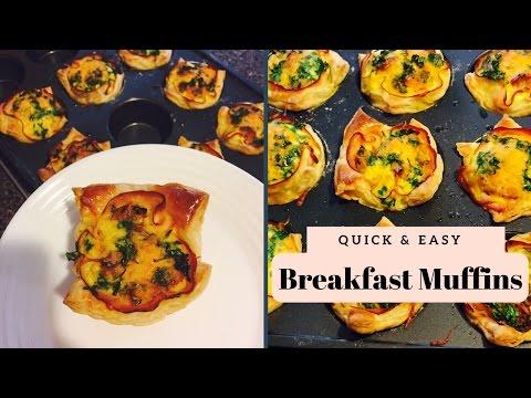Breakfast muffins- Turkey,Sausage,Cheese puff pastry
