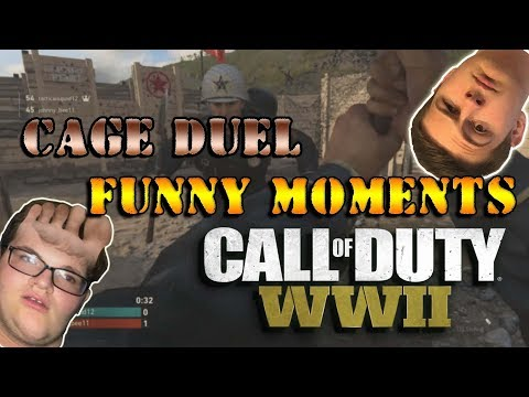 CAGE MATCH FUNNY MOMENTS ( Call of Duty WW2 )