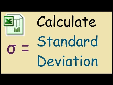 What is the function for standard deviation in Excel?