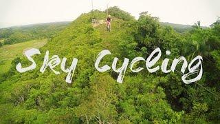 Riding a Bike Zipline - Chocolate Hills Adventure Park, Bohol, Philippines