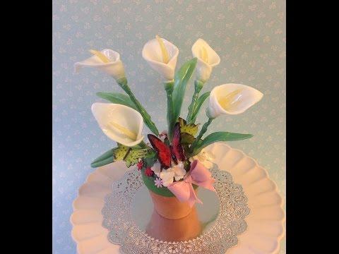 How to make Isomalt calla lilies
