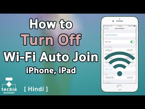 How to Turn Off WiFi Auto Join on iPhone and iPad. HINDI
