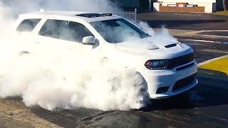 Dodge Durango SRT 2018 Spectacular BURNOUT + Driving Video! Fastest SUV 3 Row CARJAM TV HD