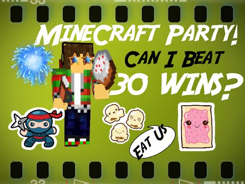 MineCraft Party - Can I Beat 30 Wins? (kinetic typography, fun montage, Victory Montage)