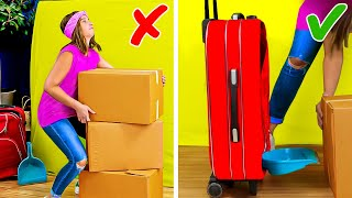 43 SMART MOVING TIPS to save all your stuff    packaging hacks, folding hacks