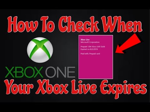 How To Check When Your Xbox Live Runs Out On Xbox One 2016 (Easy Works 100%)