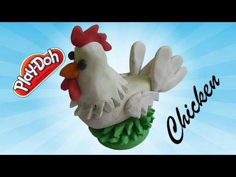 How to make Chicken for kids using modelling clay Play doh