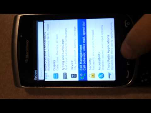 How to check usage on blackberry 9810