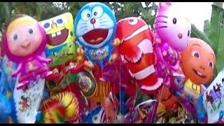 Banyak Mainan Balon Masha, Doraemon, Pokemon, Boboiboy, Upin Ipin, Spongebob, etc   BABY SHARK DANCE