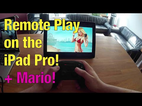 GTA V ON IPAD PRO! PS4 Remote Play + iPad Pro + Steelseries Nimbus & MARIO!