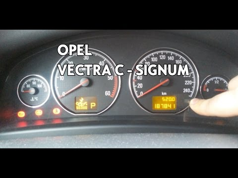 [Vectra C/Signum] Reset Oil Service Inspection ᴴᴰ
