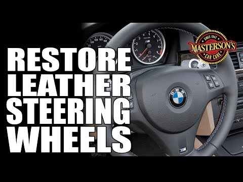How To Clean & Condition Leather Steering Wheels - Masterson's Car Care - BMW M6 V10