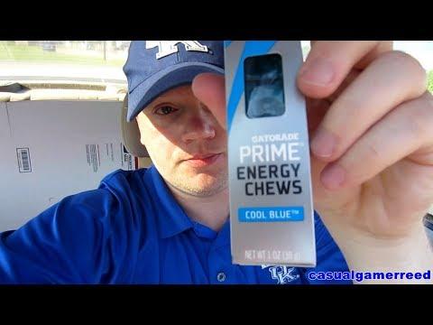 Reed Reviews Gatorade Prime Cool Blue Energy Chews