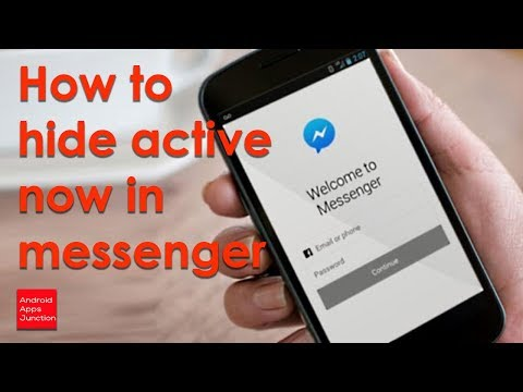 How to hide active now on Facebook messenger on android