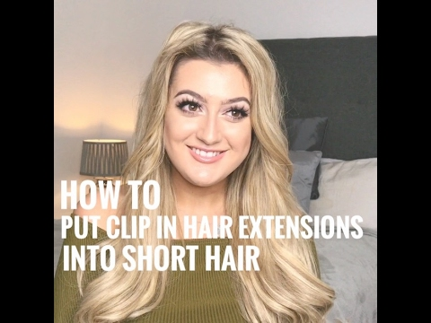 How To: Put Clip In Hair Extensions Into Short Hair - Secret Hair Extensions UK