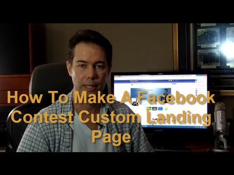 How to make a Facebook contest custom landing tab