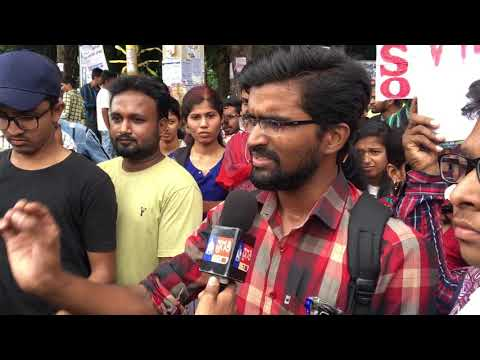 VTU DEMANDS ASKING IN FRONT OF MEDIA BY TUMKUR CITY AIDSO PRESIDENT