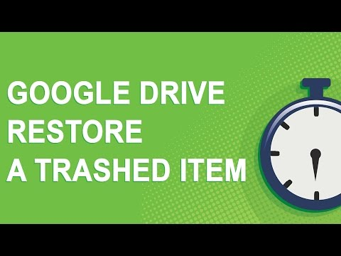 How to restore a deleted item in Google Drive (2 minute video)